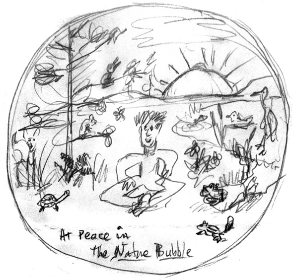 Nature Bubble Sketch