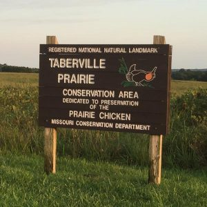 Taberville Prairie Conservation Area Sign