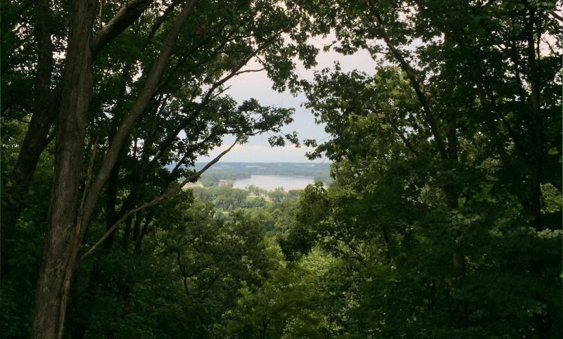 view from ridge above Missouri River