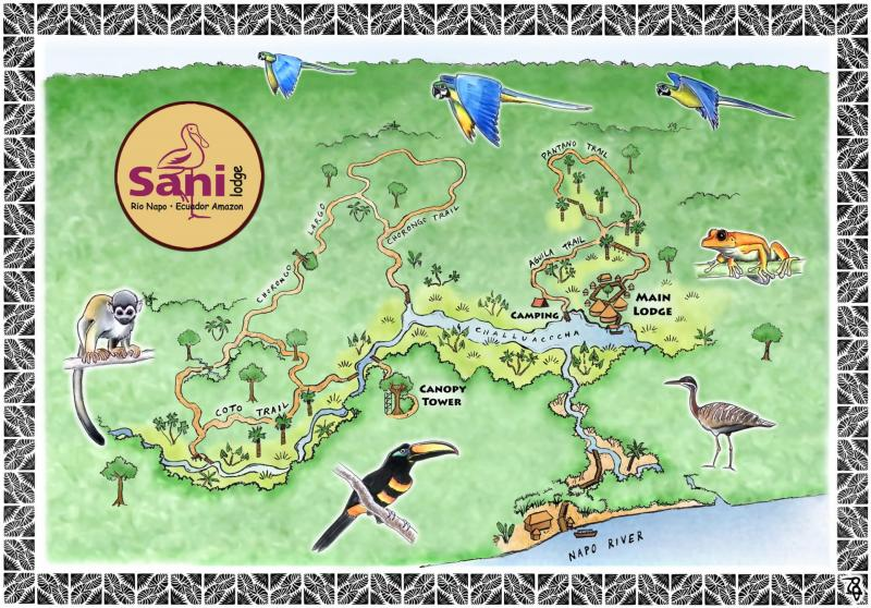 Sani Lodge trail map from googling