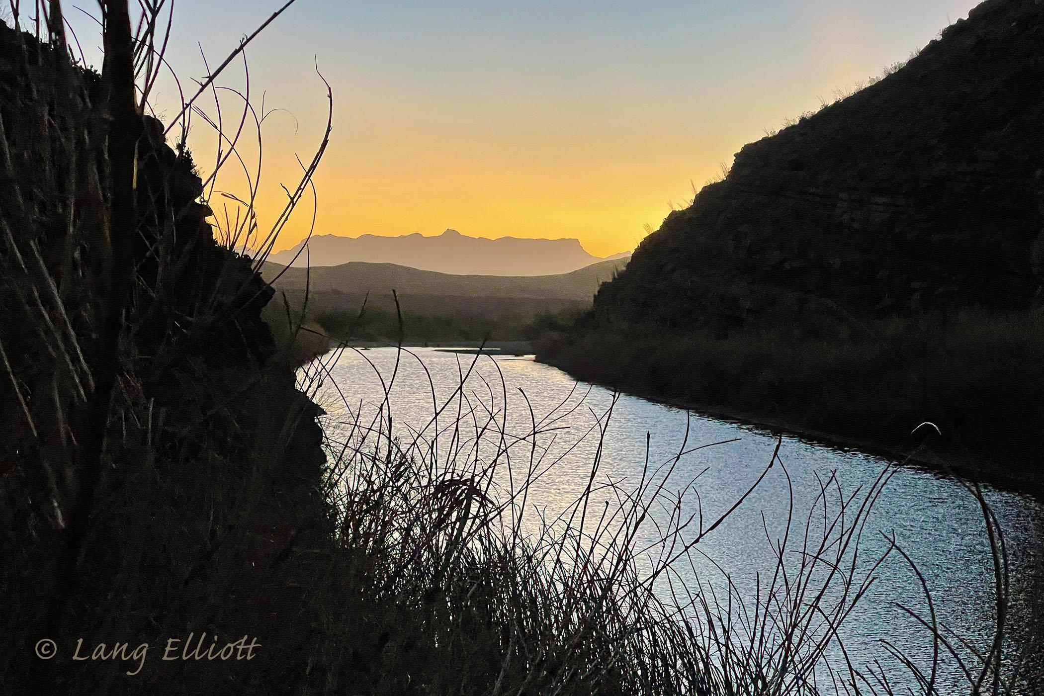 View to east from Santa Elena Canyon at dawn. © Lang Elliott